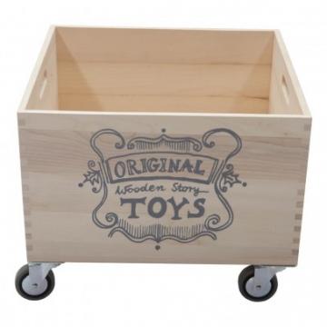 Einkaufswagen aus Holz