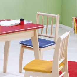 Kinderstuhl Sitzfläche blau