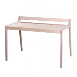 Schreibtisch aus Holz und Filz grün
