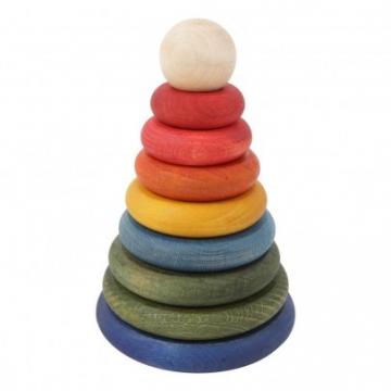 Stapelspiel aus Holz Rainbow