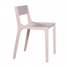 Stuhl Sepp aus Holz und Filz grau