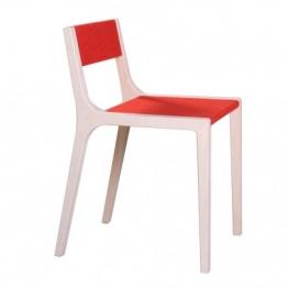 Stuhl Sepp aus Holz und Filz rot